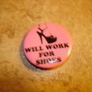 Will work for shoes metal brooch pin.
