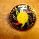 Working together makes everyone shine metal pin badge.
