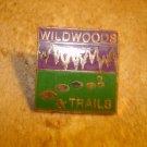 Wildwoods & trails all metal pin badge.