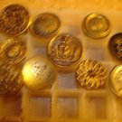 Lot of 10 antique metal buttons.