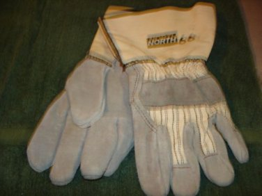 Work Gloves Leather cotton NORTH 66 long cuffs