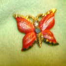 All metal butterly shape button.