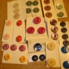 Lot of 38 colorful vintage buttons