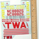TWA U.S. Army Missile Command decal.