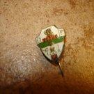 Vintage Elche C. F. all metal soccer stick pin badge.