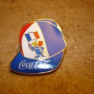 World cup France 98  France Coca Cola football  soccer pin badge.
