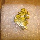 Yellow Iris all metal pin badge pin.