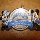 The year of a million dreams Mickey Mouse all metal pin badge.