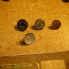 Lot of 4 antique picture buttons.