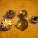 Lot of 5 antique picture buttons 7.