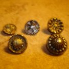 Lot of 5 antique picture buttons 8.