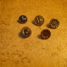 Lot of 5 antique picture buttons 1.