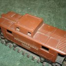 Pre WWII O gauge 2672 metal caboose offered by MTH.