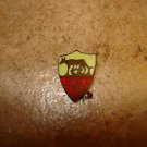 Vintage A.S. Roma all metal brooche soccer pin badge.