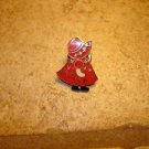 Lovely all metal pin back pin with little girl.