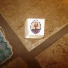 Square mother of pearl advertising button for Maserati car
