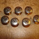 Lot of 7 silver metal buttons.