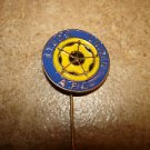 Vintage Leeds United A.F.C. all metal soccer stick pin badge.
