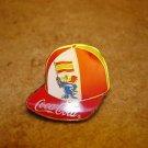 World cup France 98  Spain Coca Cola football  soccer pin badge.