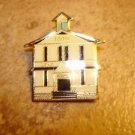 100th Lake shore all metal brooch pin