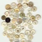 Nice lot over 45 antique mother of pearl smaller buttons.