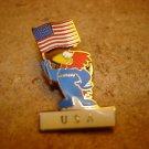 World cup France 98  USA football  soccer pin badge.
