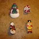 Lot of 4 very cute Christmas buttons.