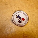 United States Volleyball association all metal pin badge.