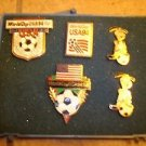 Lot of 5 World cup soccer USA 1994 all metal pin badges in box.