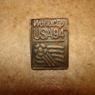 Rare World cup soccer USA 1994 pin badge by Peter David Inc.1991.
