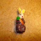 Plastic Ester bunny rabbit button.