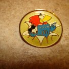 World cup soccer France 1998 mascot & Mc Donalds pin badge.