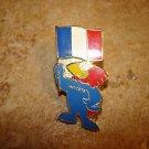World cup soccer France 1998 France mascot pin badge.