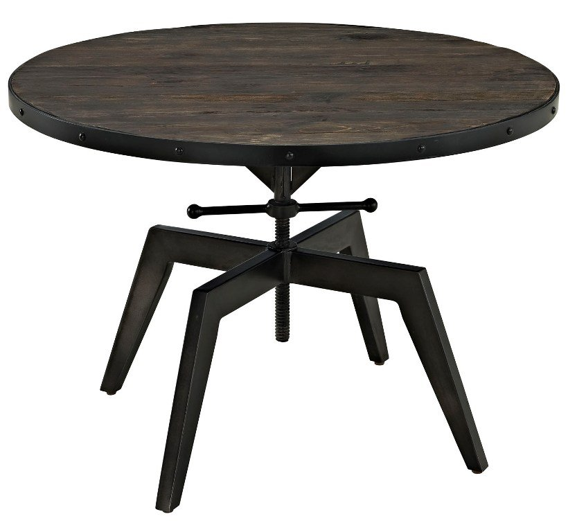 Cast Iron Coffee Table Bases: Coffee Table Wooden Top Cast Iron Base Black 47L X 23.5W X 12H