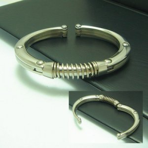 Mangle: A man's Stainless Steel Bangle.