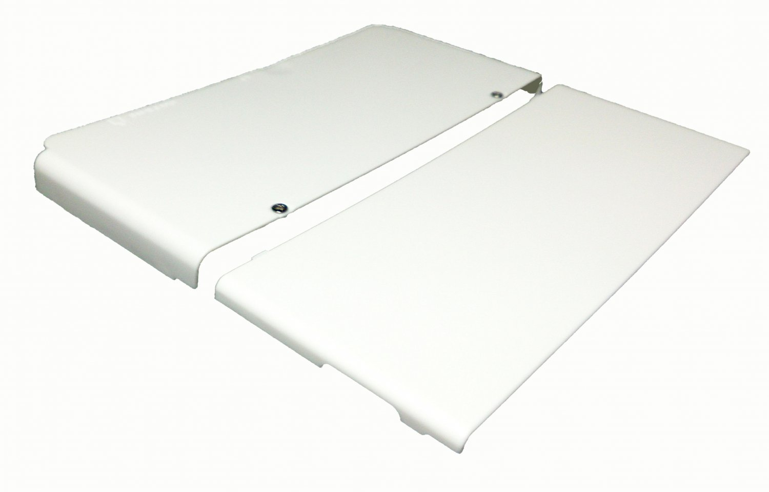 New 3DS White Cover Plate w/ Screws 3rd Party Great for Artwork!