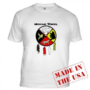 Black Foot Crow Medicine Wheel T-shirt