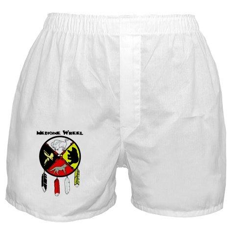 Black Foot Crow Medicine Wheel Boxers