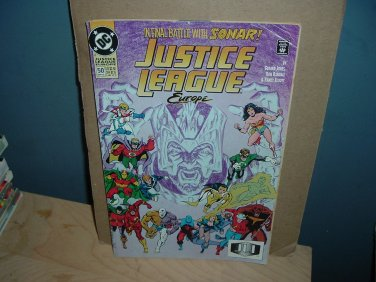 Justice League Europe #50 (DC Comics, May 1993) double sized Red Winter conclusion, For Sale