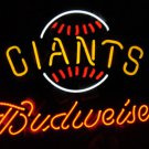 "New Budweiser New York Giants Neon Light Sign 16""x 13"" [High Quality]"