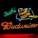 "Brand New BUDWEISER Sushi Bar Neon Light Sign 16""x 13"" [High Quality]"
