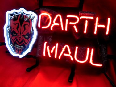 "Brand New DARTH MAUL Beer Bar Neon Light Sign 14""x8"" [High Quality]"