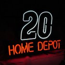"New Nascar 20 Car HOME DEPOT Neon Light Sign 16""x 14"" [High Quality]"