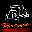 "Brand New BUDWEISER Beer Bar Old Car Pub Neon Light Sign [High Quality] 16""x15"