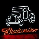 "Brand New BUDWEISER Beer Bar Old Car Pub Neon Light Sign [High Quality] 16""x15"