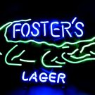 """Brand New FOSTER'S Lager Alligator Neon Pub Light Sign 16""""x 14"""" [High Quality]"""