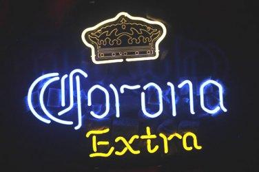 "Brand New Corona Extra Crown enjoy Beer Neon Light Sign 16""x 15"" [High Quality]"