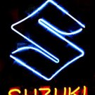 "Brand New SUZUKI Auto Racing Neon Light Sign 16""x 15"" [High Quality]"