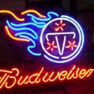"Brand New Budweiser Beer - NFL Tennessee Titans Bar Neon Light Sign 16""x14"""