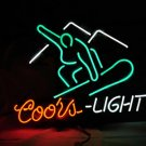 "Brand New COORS Light Ski Board Brewery enjoy Beer Bar Neon Light Sign 16""x 15"" [High Quality]"